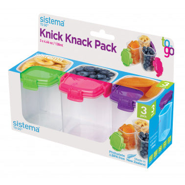Sistema Knick Knack Pack Of 3, 138ml