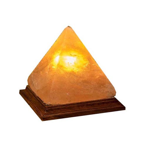 Pyramid Salt Lamp, 20cm