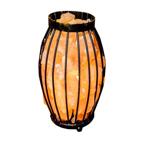Olive Basket Salt Lamp, 28cm