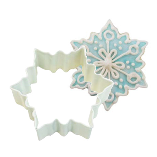 White Snowflake Shaped Cookie Cutter, 7cm