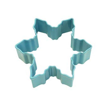 Blue Snowflake Shaped Cookie Cutter, 7.6cm