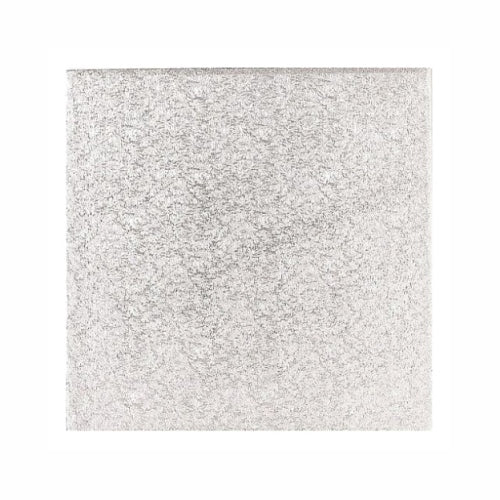 "Square Cake Card, Thin, 13"", Silver"