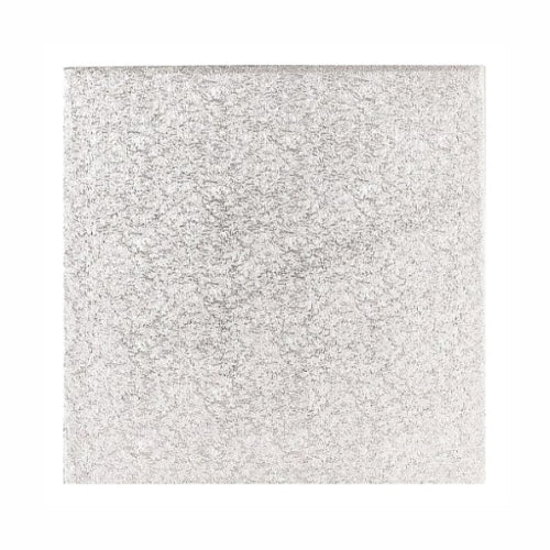 "Square Cake Card, Thin, 14"", Silver"