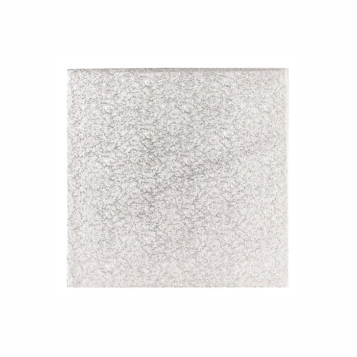 "Square Cake Card, Thin, 9"", Silver"
