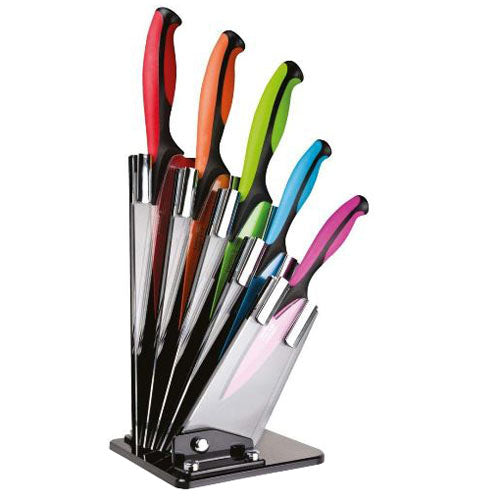 Taylors Eye Witness Dexterity Series Colored Knives in Knife Block, Set Of 5