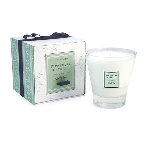 Tipperary Crystal Wax Filled Tumbler, White Tea