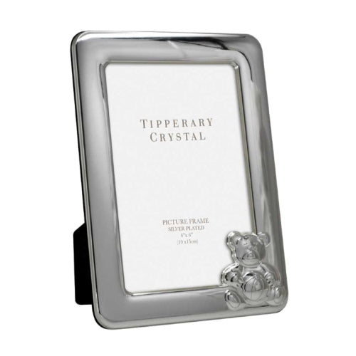 "Tipperary Crystal Baby Photo Frame With Bear, 4"" x 6"""