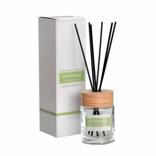 Tipperary Crystal Aromatherapy Diffuser, Inspiring, Bay Leaf & Mint