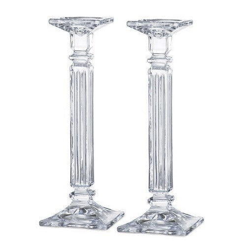 "Tipperary Crystal Empress Candleholders, 14"", Set Of 2"