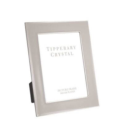 "Tipperary Crystal Grey Enamel Photo Frame With Silver Edging, 4"" x  6"""
