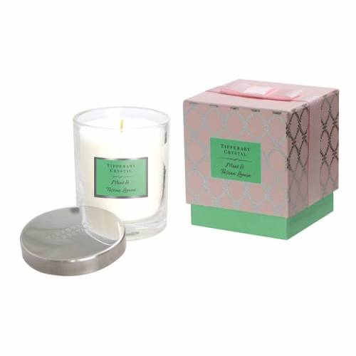 Tipperary Crystal Luxury Candle, Mint & Tuscan Lemon
