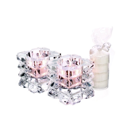 Tipperary Crystal Skellig Tealight Holder With 4 Candles, Set Of 2