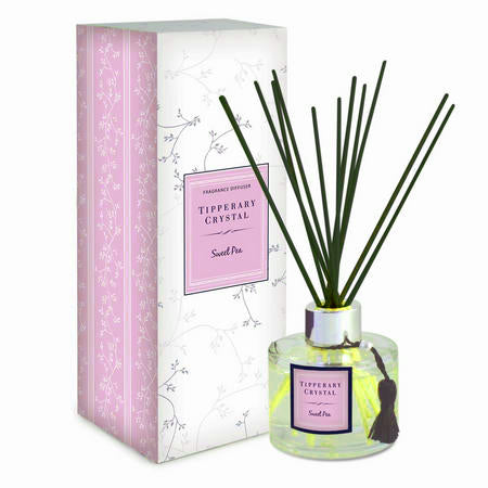 Tipperary Crystal Diffuser Set, Sweet Pea