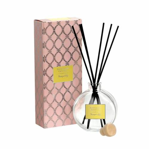 Tipperary Crystal Luxury Diffuser, Trumpet Lily