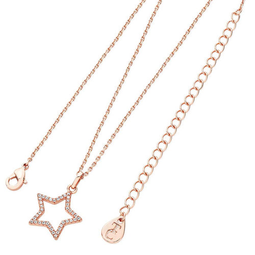 TIPPERARY CRYSTAL Star Pendant Open Rose Gold