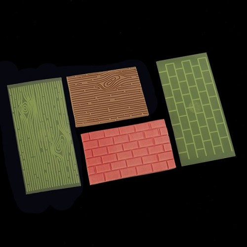 FMM Tree Bark and Brick Wall Impression Pads, 2 Piece