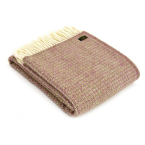 Tweedmill Lifestyle Illusion Throw, Raspberry