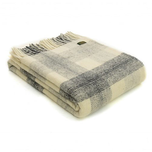 Tweedmill Lifestyle Meadow Check Throw, Slate
