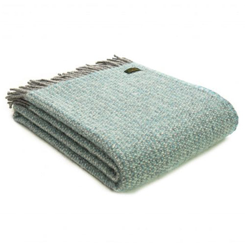 Tweedmill Lifestyle Illusion Throw, Spearmint/Grey
