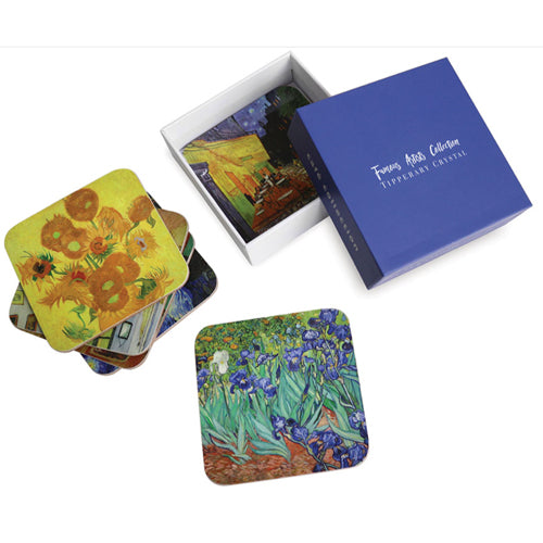 Tipperary Crystal Vincent Van Gogh Drinks Coasters, Set Of 6