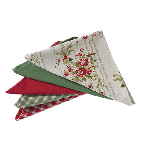Walton & Co Rose Cottage Napkins, Set Of 4