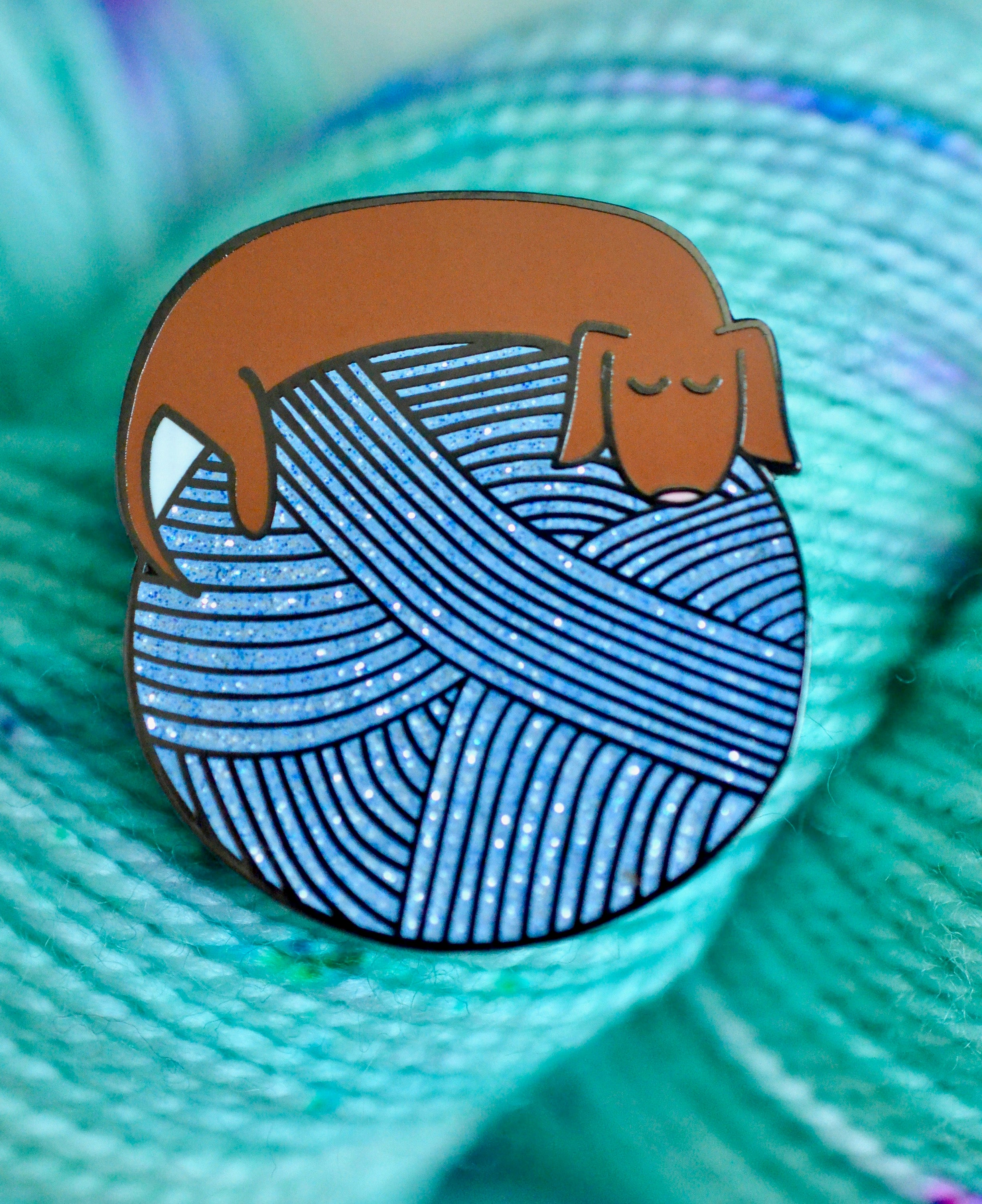 Long Dog Enamel Pin
