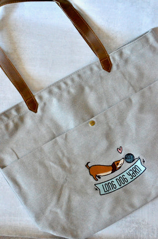 Long Dog Yarn Logo Tote Bag