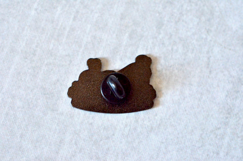 Long Dog Yarn Logo Pin