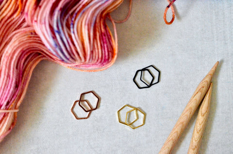 Hexagon Stitch Marker Set