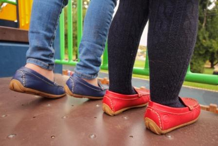 navy and red leather loafers back to school kinder shoes for kids