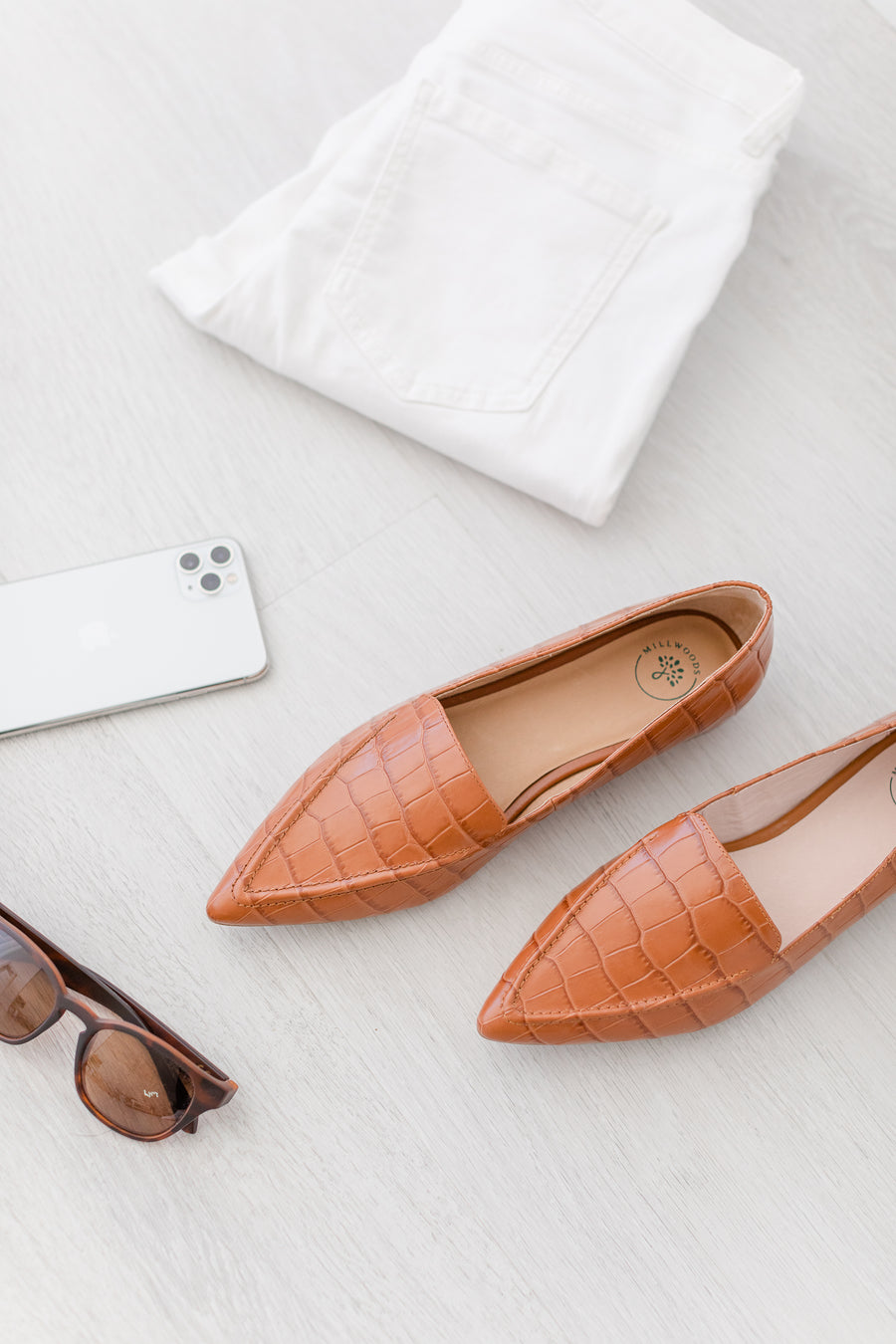 Limited Edition Tan Pointed Flat