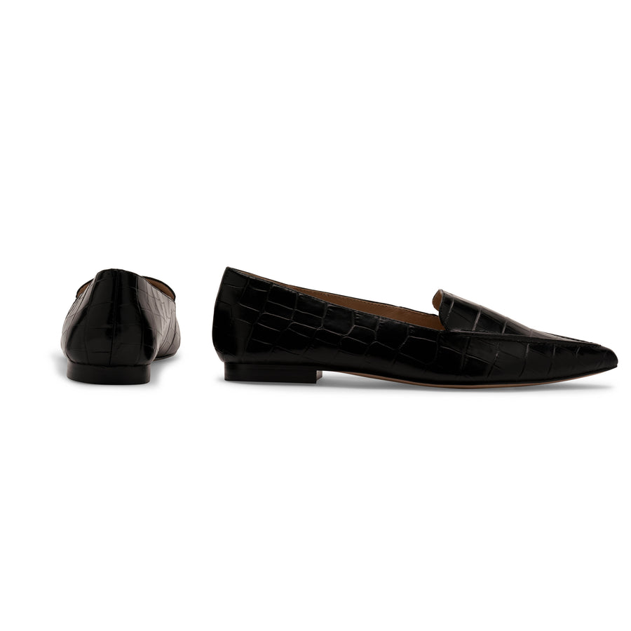 Limited Edition Black Pointed Flat
