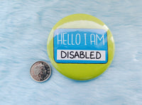 Hello  I am disabled badge, functional pins