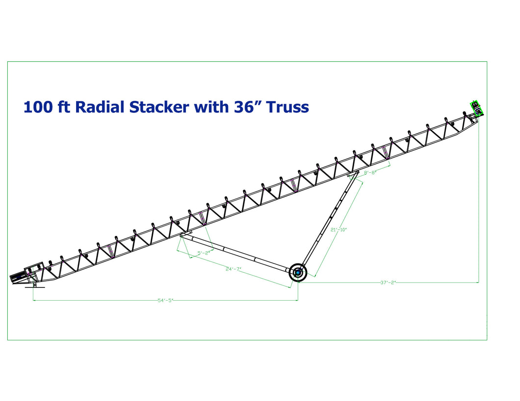 Iron City Supply NEW 30x100 Radial Stacker