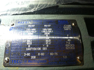 Westinghouse Max-E1 50 HP Inverter Duty Electric Motor EP0502