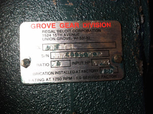 Grove 20:1Gear Reducer 30MDT-L
