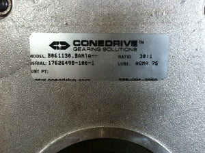Cone Drive 30:1 Stainless Steel Motor Reducer  B061130