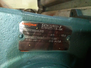 Dodge 15:1 Motor Reducer 056WM16J15
