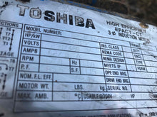 Toshiba 25hp Electric Motor 0254FTSA21A-P