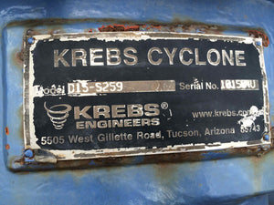 krebs d15 ceramic lined cyclone
