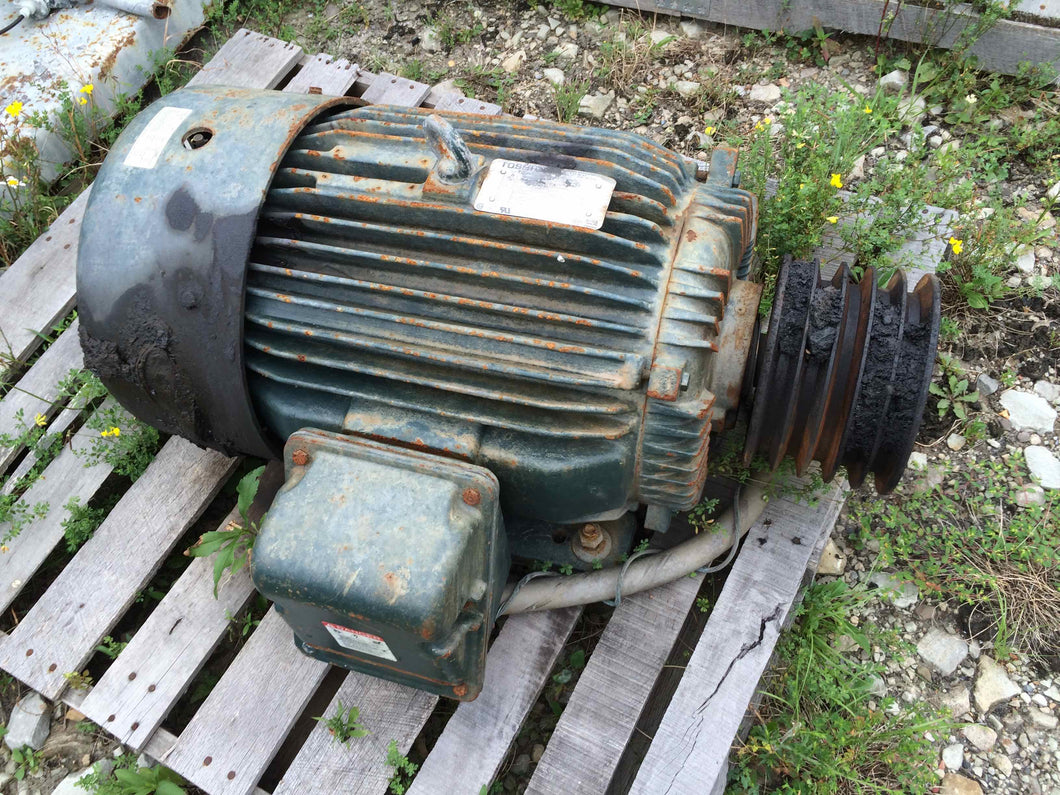 Toshiba, 40 HP, Inverter Duty, Electric Motor