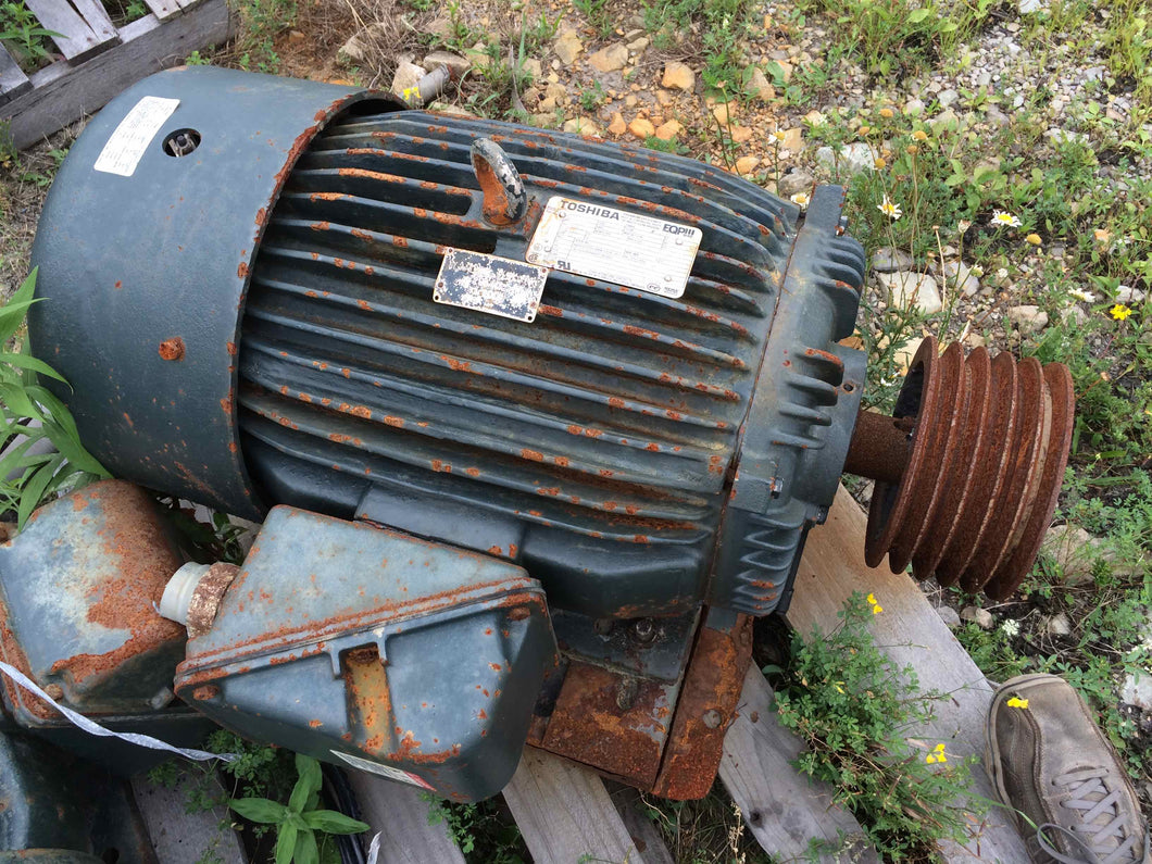Toshiba, 50 HP, Inverter Duty, Electric Motor