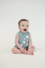Boys Sea Blue Bubble Romper - PiccinoPiccina