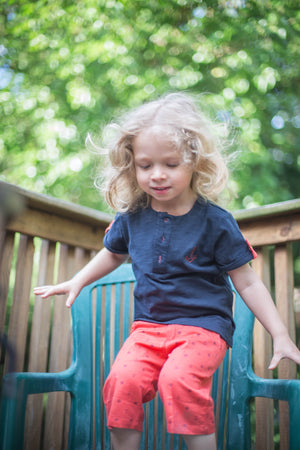 Boys Short Sleeve Navy T-Shirt - PiccinoPiccina