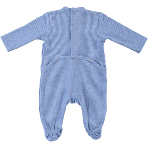 Body Fitted Baby Footsie - Light Blue - PiccinoPiccina