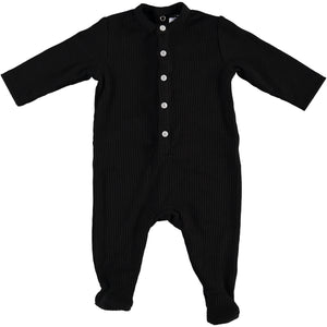 Body Fitted Baby Footsie - Black - PiccinoPiccina