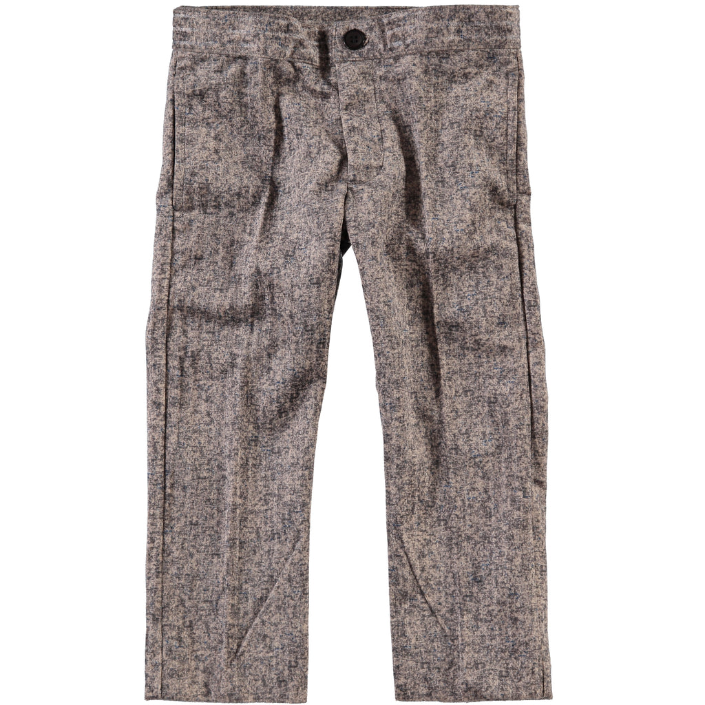 Boys Tan/Grey Multi Pants - PiccinoPiccina