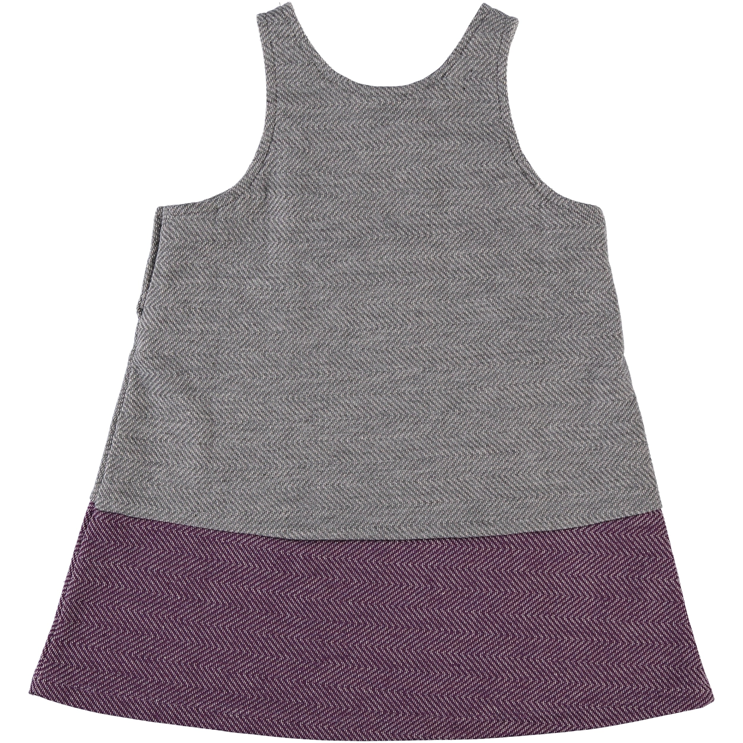 Girls Grey/Purple Grey Jumper float dress - PiccinoPiccina