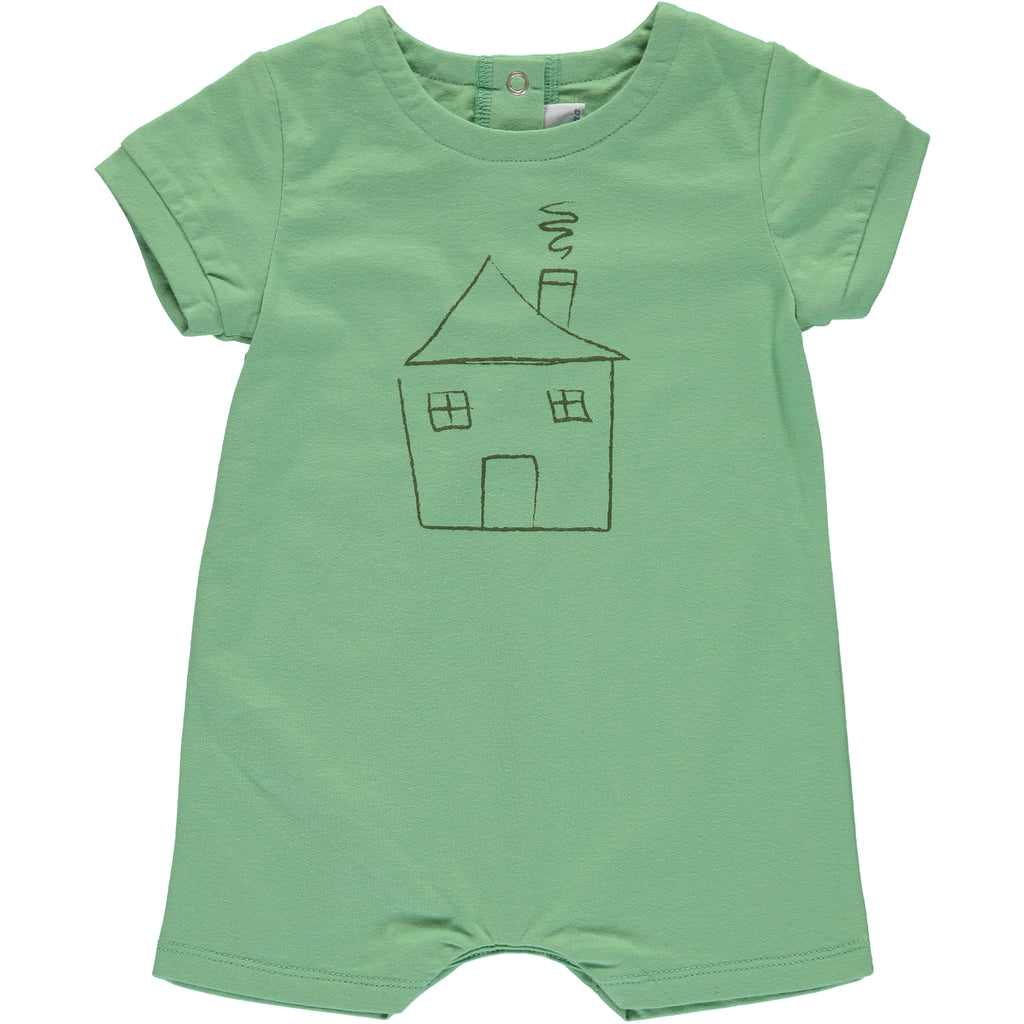 Boys Green House Romper - PiccinoPiccina
