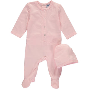 Light Pink Fitted Footsie - PiccinoPiccina